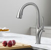 KRAUS Odell™ Single Handle Pull-Down Kitchen Faucet In Spot Free Stainless Steel