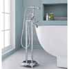 ARIEL 3-Handle Freestanding Claw Foot Tub Faucet with Hand Shower, Chrome, 11