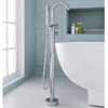 ARIEL Single-Handle Freestanding Roman Tub Faucet with Hand Shower, Chrome, 6-45/64