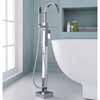 ARIEL Single-Handle Freestanding Roman Tub Faucet with Hand Shower, Chrome, 5-19/64