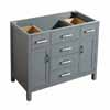 Belmont Decor Hampton Single Sink Base Cabinet with Matching Mirror Option in Grey and White Finishes