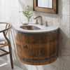 Native Trails Bordeaux Oak Wine Barrel Wall Mount Bathroom Vanity