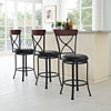 Bar Stools Antique Black Backless Stools By Powell