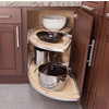Independent Motion Blind Corner Pullout for Face Frame Cabinetry