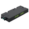 LOOX5 6-Way Distributor 24V, Box to Box with Switching Function, Black, Maximum Connected Wattage 84 W