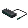 Hafele LOOX5 6-Way Distributor without Switching Function, 24V/0.10 Meter, Black