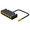 Hafele LOOX5 6-Way Distributor without Switching Function, 12V/0.10 Meter, Black