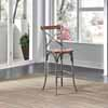 Home Styles Orleans Bar Stool in Caramel Top and Grey Finish, 17-3/4