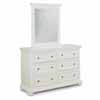 Home Styles Dover Dresser with Mirror Option in White Finish