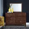 Home Styles Bungalow Dresser with Mirror Option in Medium Brown Finish