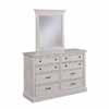 Home Styles Seaside Lodge Dresser with Mirror Option in  White, 54