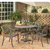 5-Piece Patio Seating Set in Rust Brown