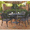 5-Piece Patio Seating Set in Black