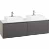 60'' Wide Costre Double Sink Modern Wall Mounted Vanity