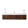 James Martin Furniture Mercer Island Wall Mounted Single Bathroom Vanity Cabinet