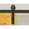 Knape & Vogt 3'' Side Mount Hook Carriers, Flat Rail Sliding Door Hardware Kit in Black Finish- Track sold separately