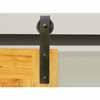 Knape & Vogt 3'' Side Mount Hook Carriers, Flat Rail Sliding Door Hardware Kit in Black Finish- Track sold separately