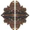 Cicada on Leaves Hinge Plate Set
