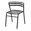 Safco CoGo™ Steel Outdoor/Indoor Stack Chair - Set of 2 in Multiple Finishes, 18-1/2