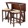 Harrington Table with Two Rush Square Stools